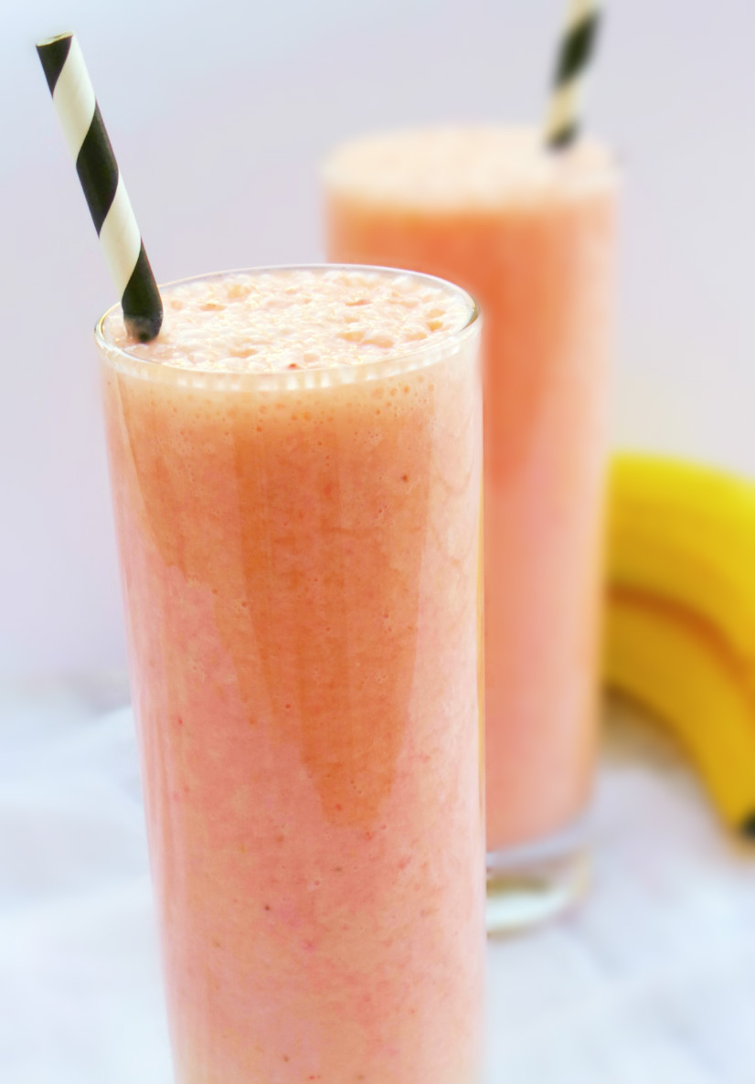 Healthy strawberry smoothie