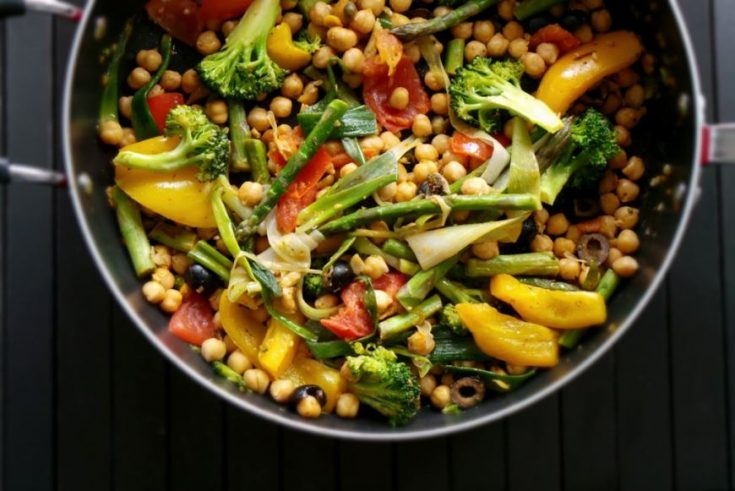 chickpeas with mixed vegetables