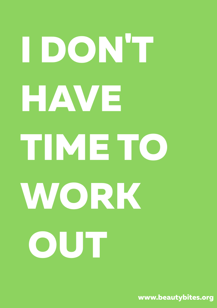 excuses for not working out