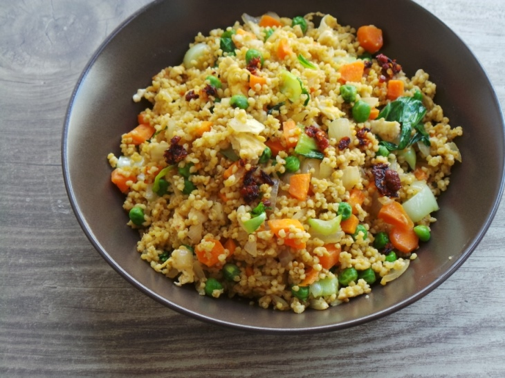 Vegetable fried millet by Beauty Bites