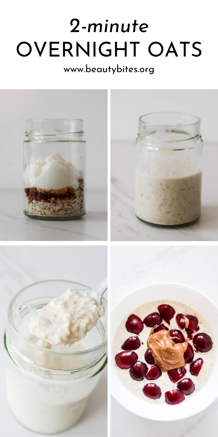The best overnight oats - quick and easy overnight oats recipe, the quickest, best healthy breakfast idea that is ready to go in the morning. Make your overnight oats in a jar and eat on the go, play around with toppings and enjoy!