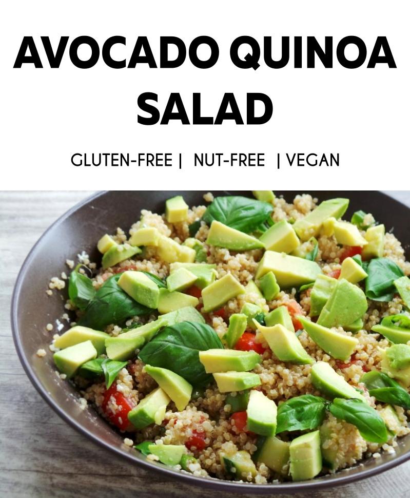 Healthy avocado quinoa salad! A great healthy summer salad that is vegan and gluten-free!