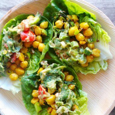 Curried Chickpea Lettuce Wraps (Vegan & Gluten-Free)