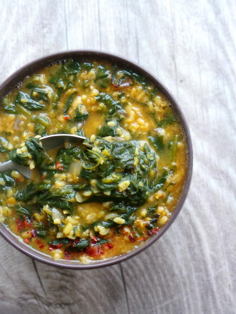 red lentil bulgur soup