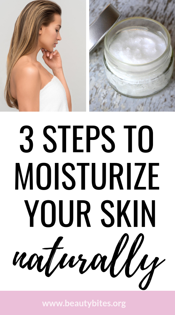 How to moisturize your skin naturally - this is what I do with my dry skin -it really works!