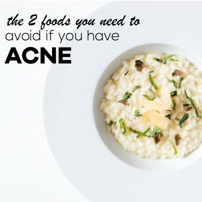 Two Foods That Can Cause Acne