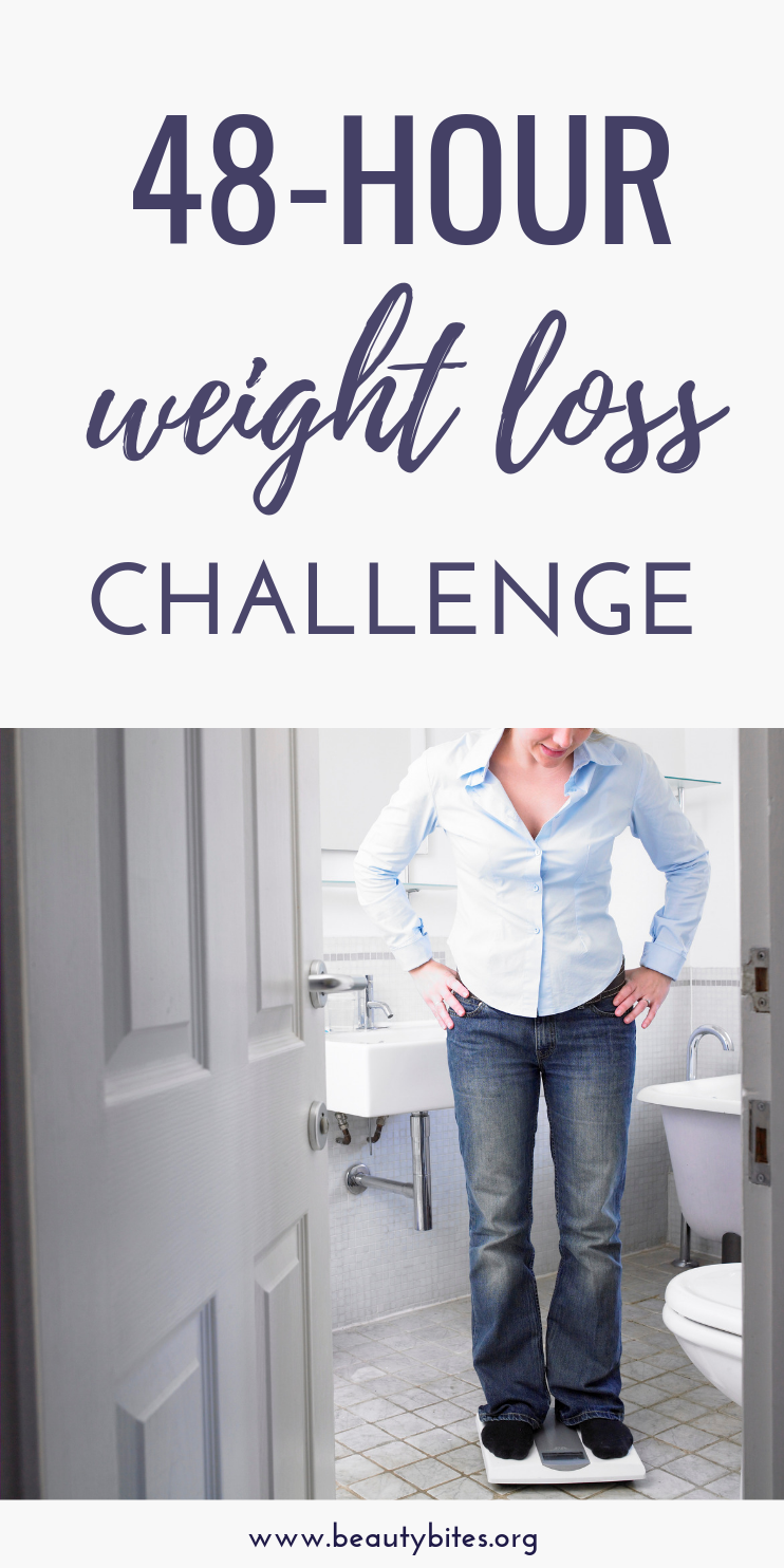 48 hour weight loss challenge! This challenge is not a quick fix, you probably won't lose 10 pounds, but it will  help you start losing weight in 48 hours, so you can prove to yourself that weight loss is possible for you too. Learn also about the habits and mindset you need in order to lose weight and keep it off!