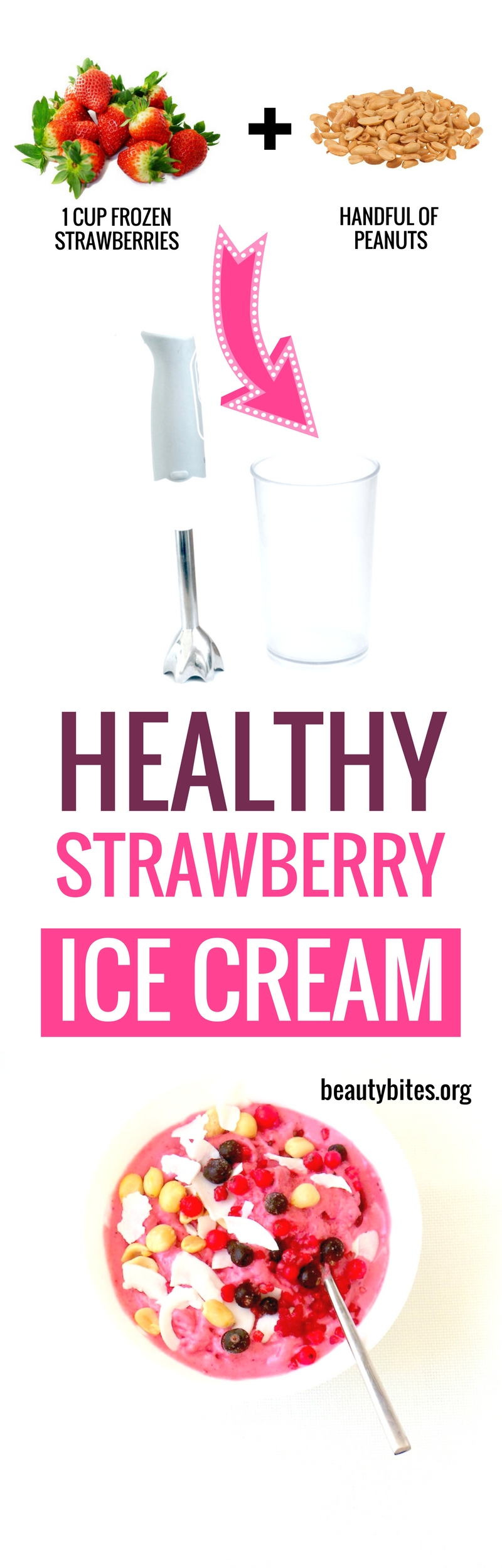 Sounds like a weird combo, but this was the perfect easy & healthy ice cream recipe that takes just 5 min to make! No need for ice cream maker or frozen bananas (I hate them!) | healthy vegan dessert recipe #healthyrecipe