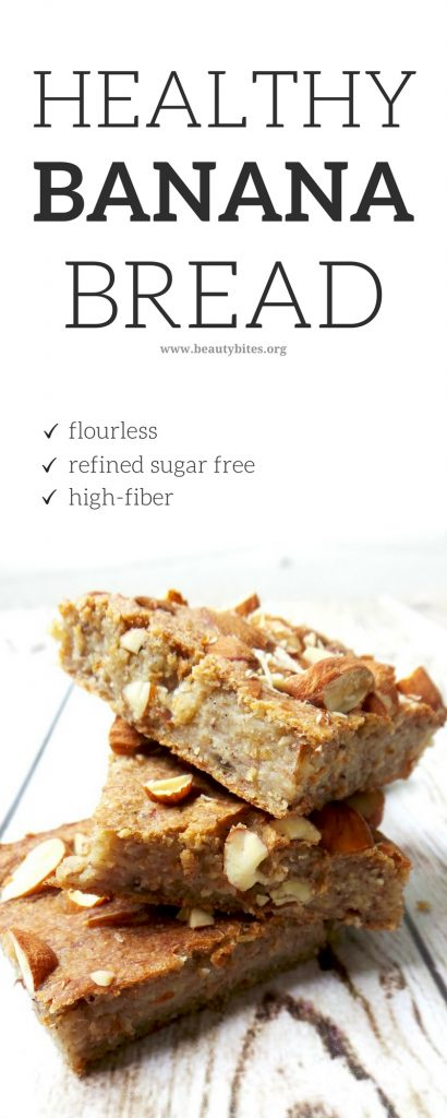 Easy Healthy Vegan Banana Bread! The perfect vegan meal prep breakfast to eat on the go! This easy banana breakfast recipe is delicious and requires only 5 ingredients.