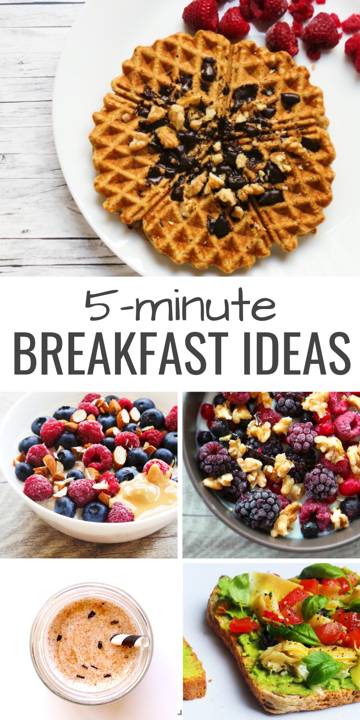 5 healthy breakfast ideas that are quick, easy and delicious! Enjoy these wholesome recipes for breakfast or as a snack.