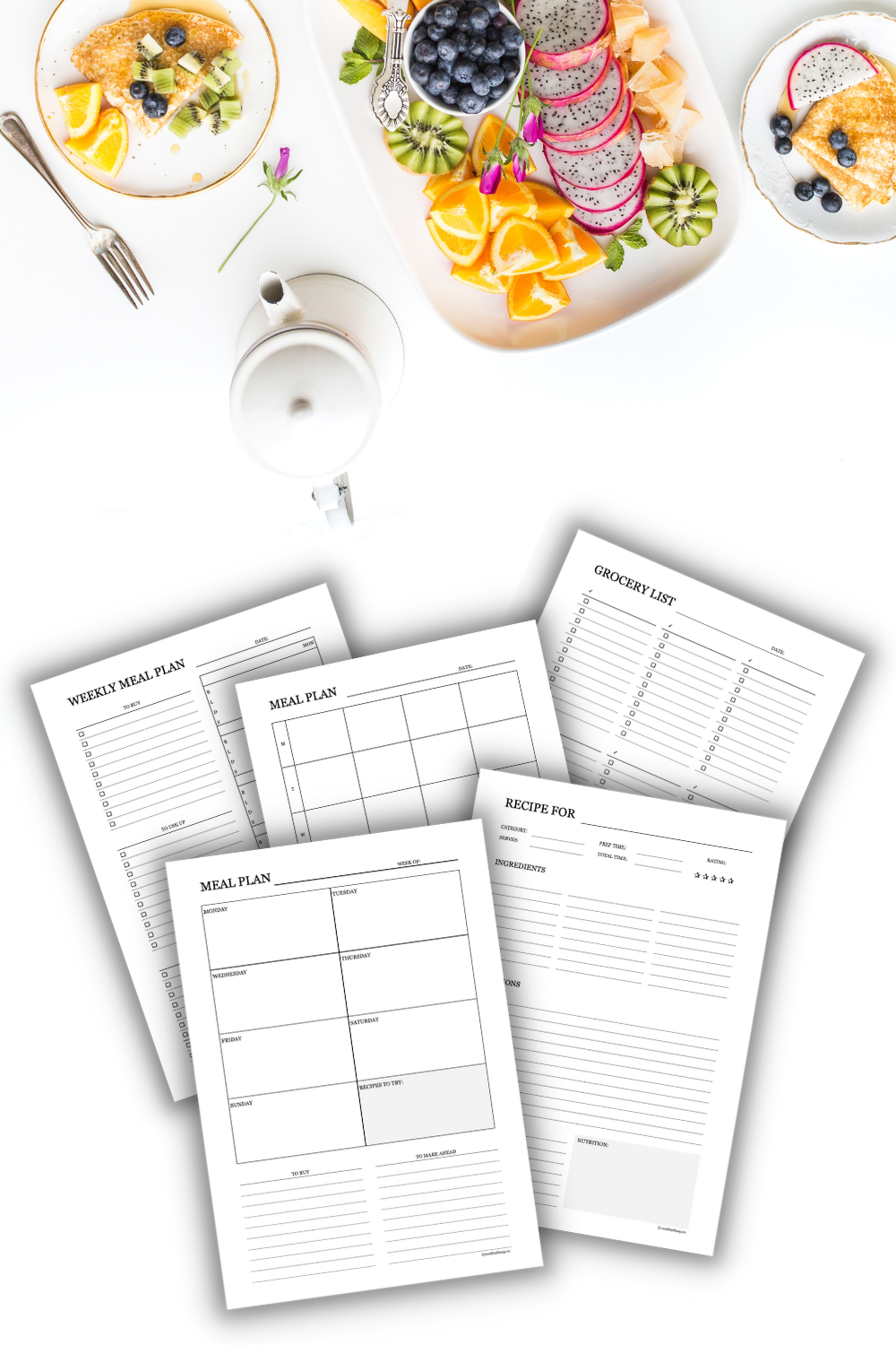 printable meal planning template - meal planner