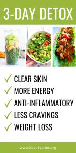 3-day anti-inflammatory detox to rejuvenate you