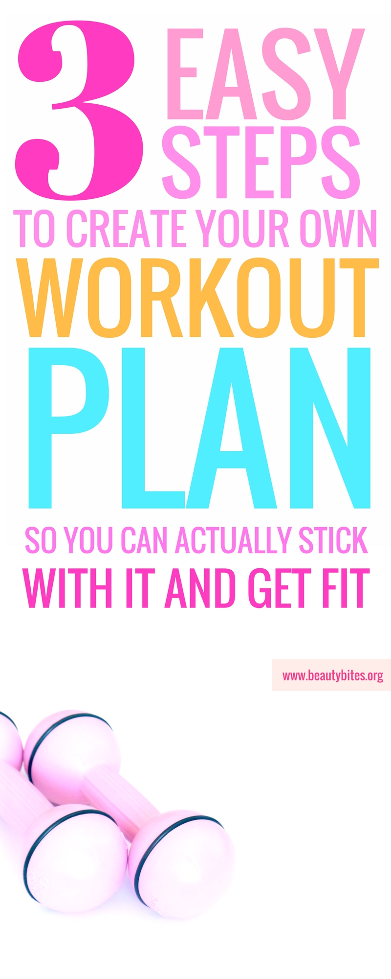 If you need a workout plan to lose weight or get fit, you better create your own! These steps will help you do that, so you can stick to that plan whether you're a beginner or advanced! | beautybites.org | Workout plan for women | Workout plan for beginners