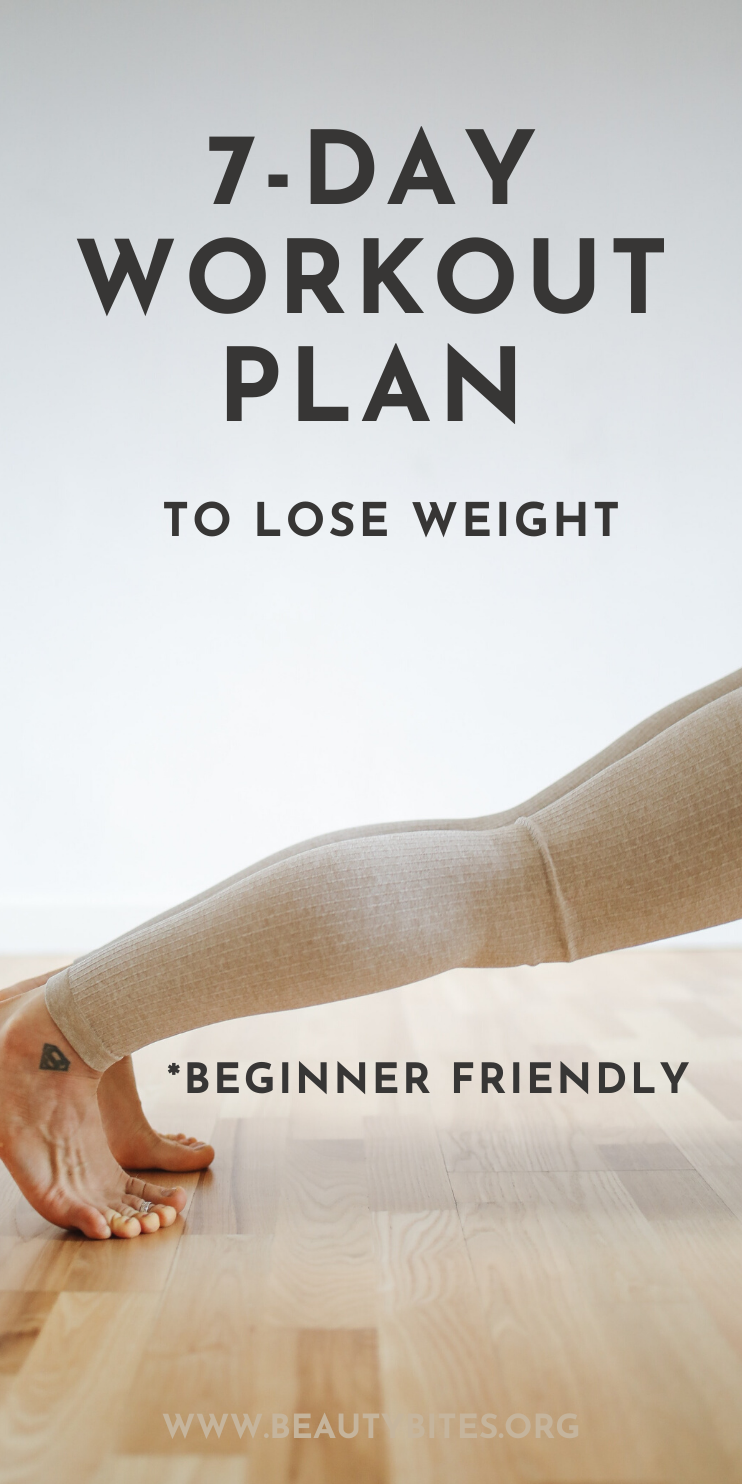 One Week Beginner Workout Plan For Women To Lose Weight Beauty Bites