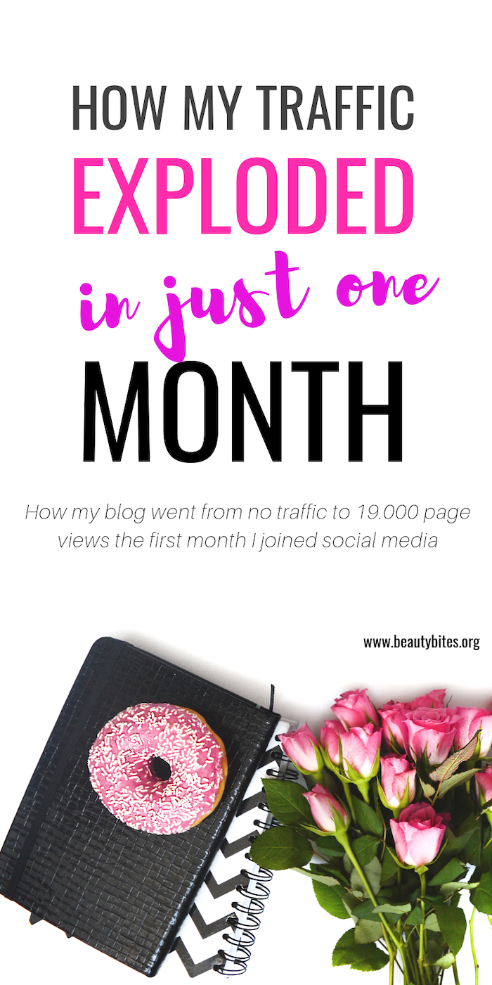 My blog went from 860 to 19.000 monthly page views in one month! Using these tips you can grow your blog traffic, even if you're a blogging beginner and just starting out! #blogging #bloggingtips