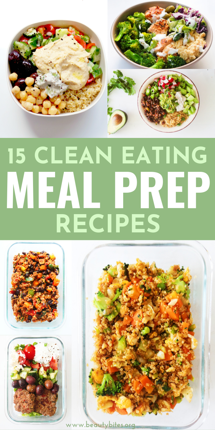 15 easy clean eating meal prep recipes that have no chicken in them! These meal prep ideas are a great way to make your meal prep for the week more exciting and versatile! | clean eating for beginners #mealprep