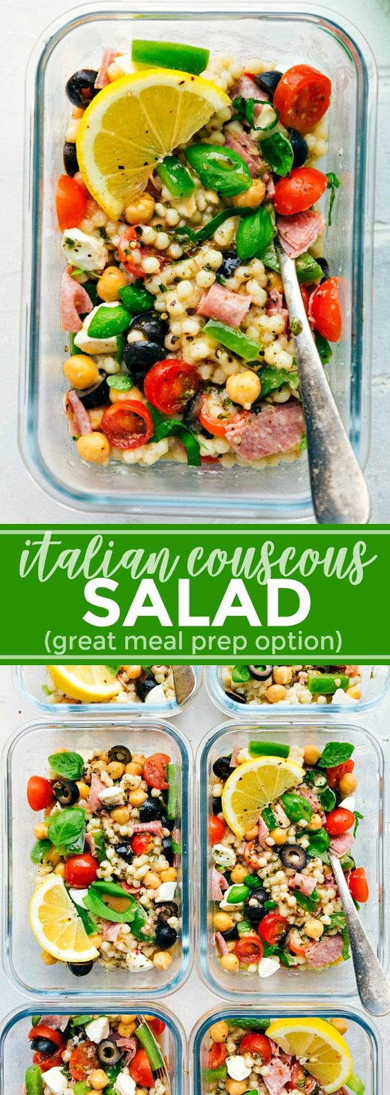 Meal Prep Italian Couscous Salad by Chelsea's Messy Apron