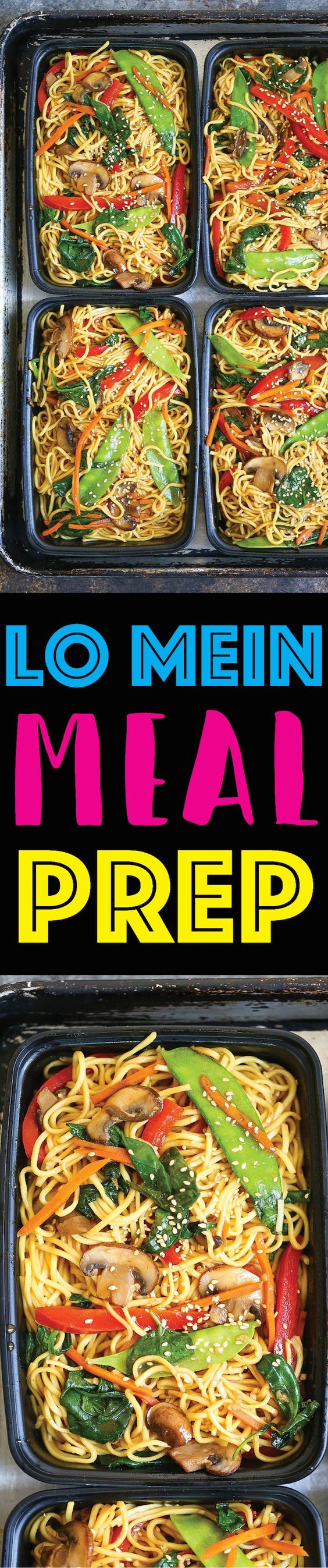 Lo Mein Meal Prep by Damn Delicious