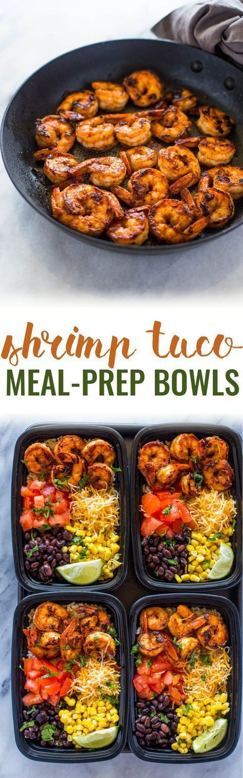 Meal Prep Shrimp Taco Bowls by Gimme Delicious