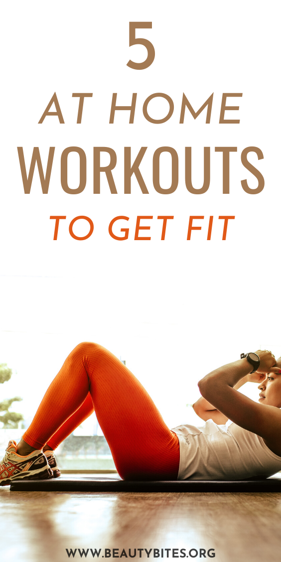5 of my favorite home workouts to get fit! You can do these workout videos at home without any equipment, many are beginner friendly. These workouts include HIIT workouts, cardio workout, and strengthening barre workouts and Pilates workouts. Make a workout plan and get fit even when you can't go to the gym!