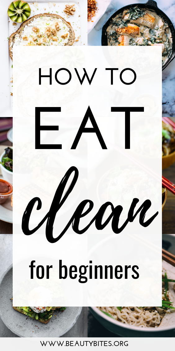 Clean eating for beginners: How to start eating healthy and make cooking healthy recipes easy, even if you've never eaten healthy before and aren't motivated, rich or famous. Start eating clean today with these 6 essential tips and try the 7-Day clean eating meal plan mentioned.