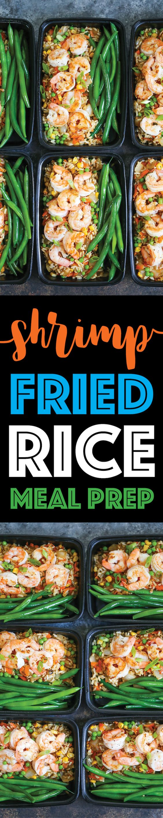 Shrimp Fried Rice Meal Prep by Damn Delicious
