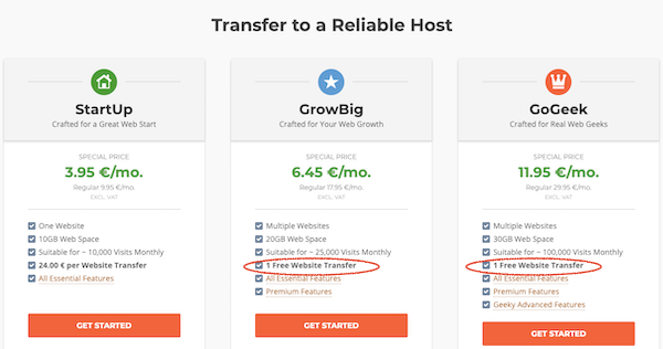 free website transfer Siteground