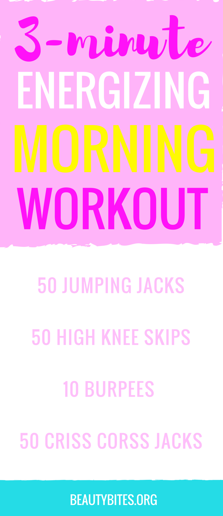 3-minute morning workout! Start your day with this quick at home workout for more energy & happiness!