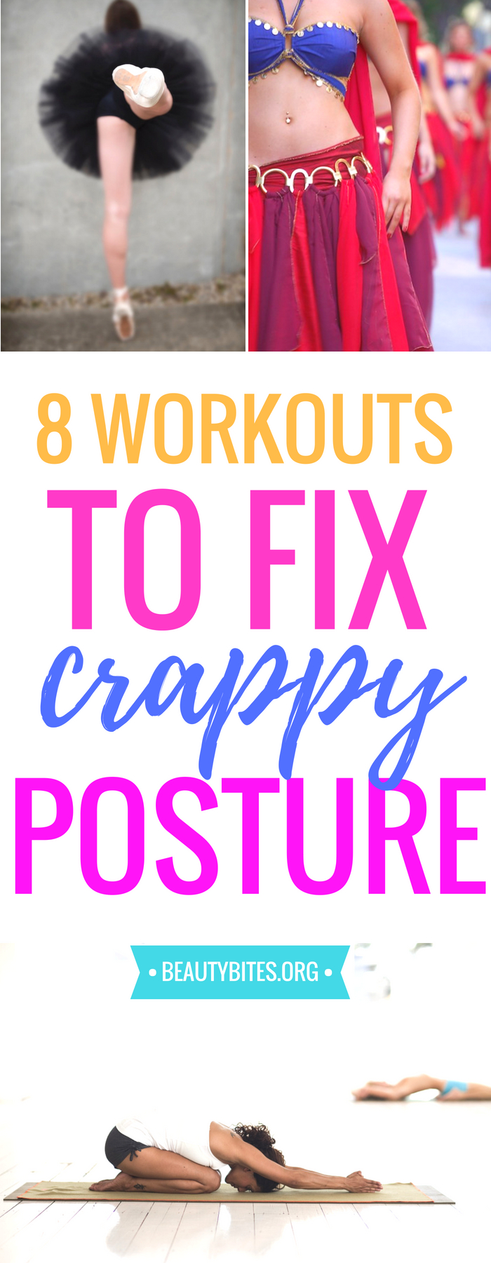 Fix your bad posture with these exercise routines! These at home workouts will help strengthen your upper body to get better posture! | www.beautybites.org
