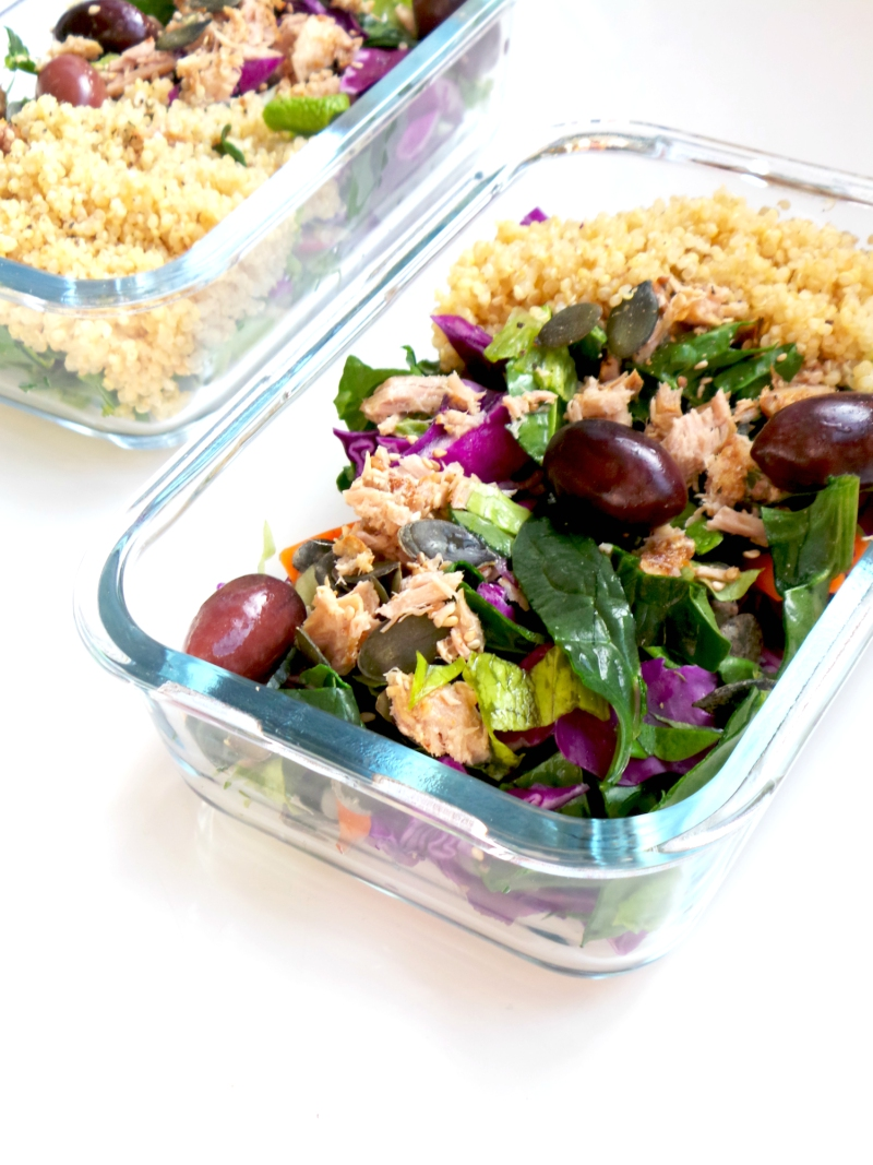 My Favortie Healthy Tuna Salad - The perfect high-protein recipe - fresh, satisfying and gluten-free. This healthy high-protein salad makes also a great meal prep recipe!