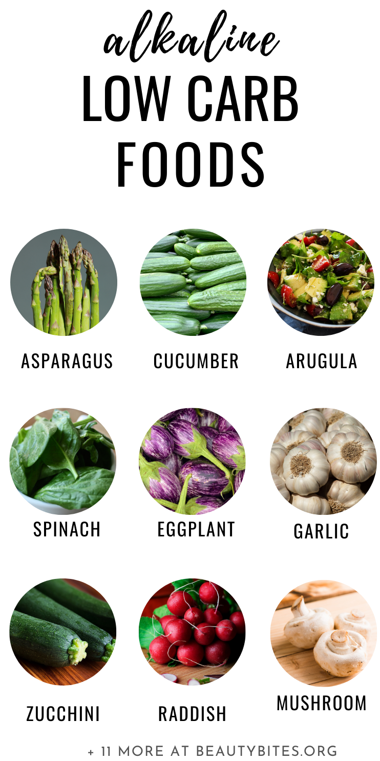 20 alkaline foods to eat on a low carb diet! It is important to eat these keto vegetables every day to reduce the acid load if you're doing the keto diet to get the most health benefits! Including some important information about the keto diet for beginners.