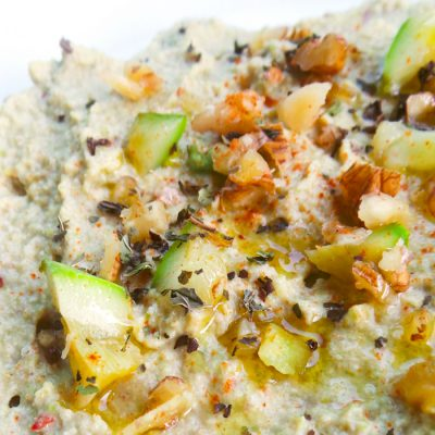 Low Carb Hummus Recipe With Zucchini