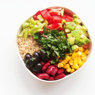 Avocado And Bean Salad Recipe | Vegan + Meal Prep Option