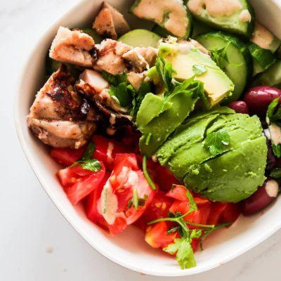 Avocado Chicken Salad | Meal Prep + Low Carb