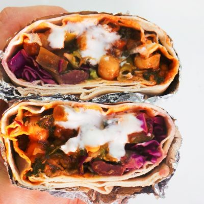 Very Lazy Chickpea Wraps – Healthy & Vegan Meal Prep Recipe