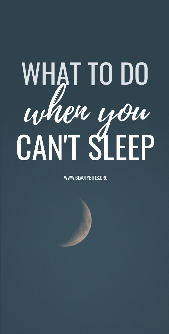 11 things to do when you can't sleep - follow these sleeping tips if you're wondering how to sleep better! You'll create a better bedtime routine and evening habits to wake up early and rested!