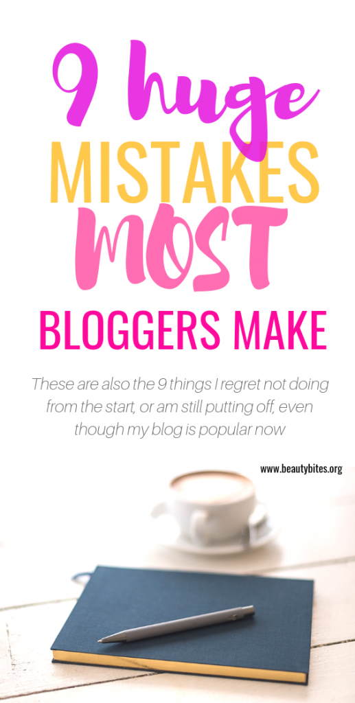 9 mistakes beginner bloggers make! These are the things I regret when I started blogging (yes, wasting time on reading countless income reports is one of them!)! These blogging tips have really helped me stay consistent, get blog traffic and make money blogging!