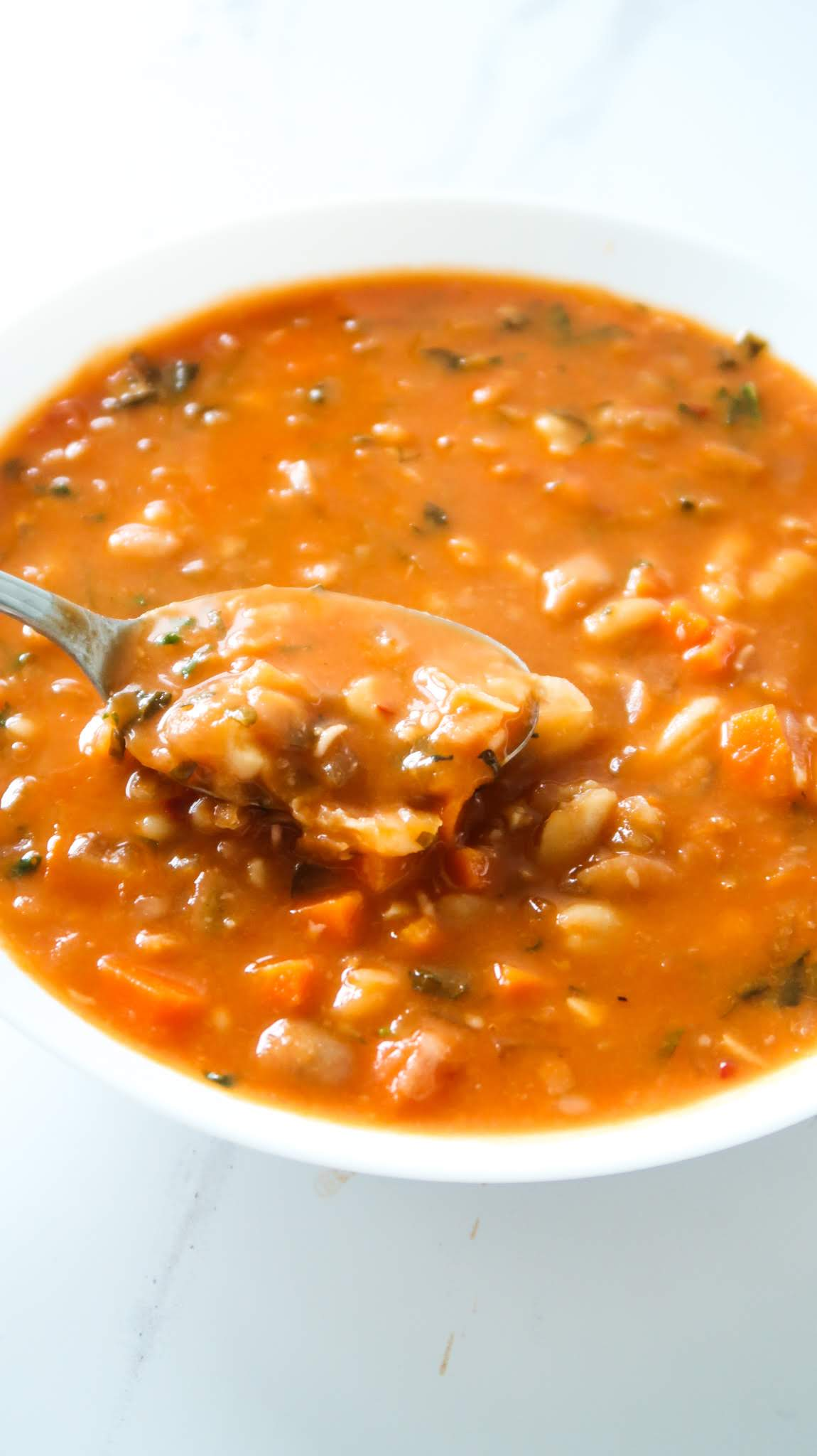 20-Minute Healthy Bean Soup Recipe. This healthy and easy vegan bean soup recipe is warming and super delicious. It is also gluten-free and high fiber.