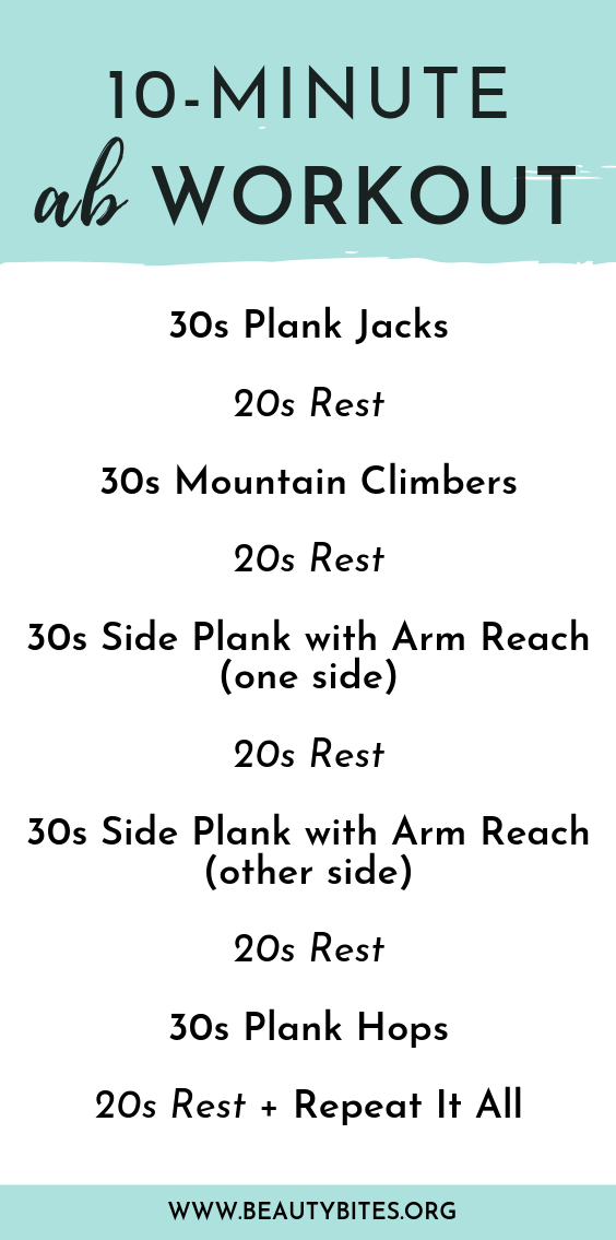 This 10 minute ab workout is for women, who don't have much time, but still want to do something. This ab routine is made out of 4 different plank exercises, including plyometric exercises and side planks! It's challenging, but also makes you feel stronger and energized right after. It's also great to do as a morning workout at home, because it's quick and will definitely wake you up! This core workout is probably not the best one to start with if you're a complete beginner, but it's great if you've already started to work out regularly and want to challenge yourself and work on your core and abs!