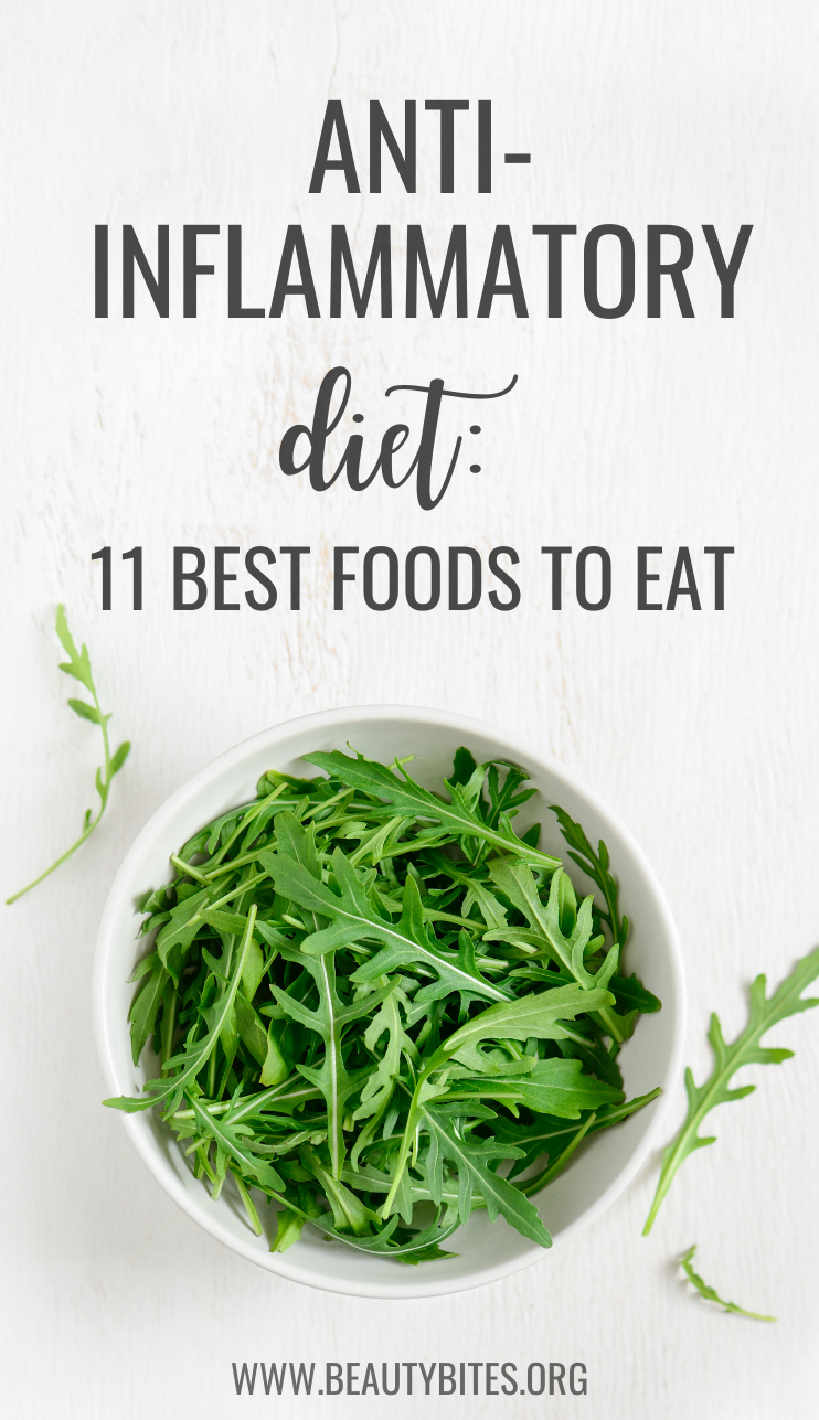 11 best foods to eat on the anti-inflammatory diet! Reduce inflammation and improve your health by eating clean and including more anti-inflammatory foods into your meal plan. | anti-inflammatory diet recipes | anti-inflammatory meal plan