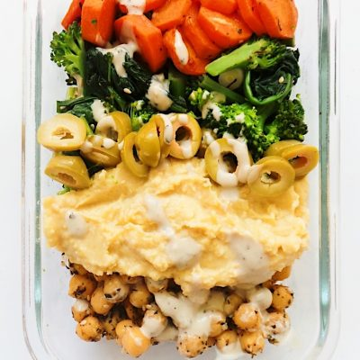 Vegan Meal Prep Bowls With Chickpeas