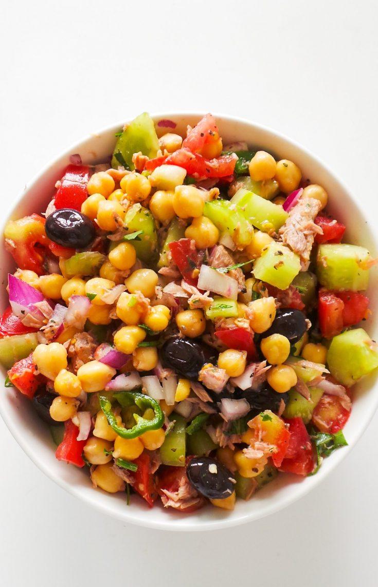 easy tuna chickpea salad recipe