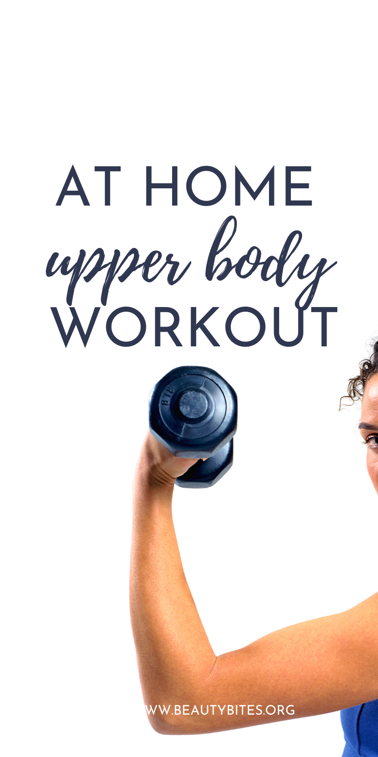 At home upper body workout for women! Train your arms, back and shoulders with this simple at home workout - you only need a pair of dumbbells to perform these back and arm exercises!