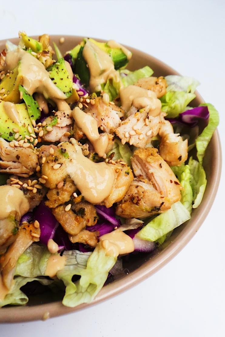 low carb chicken avocado salad