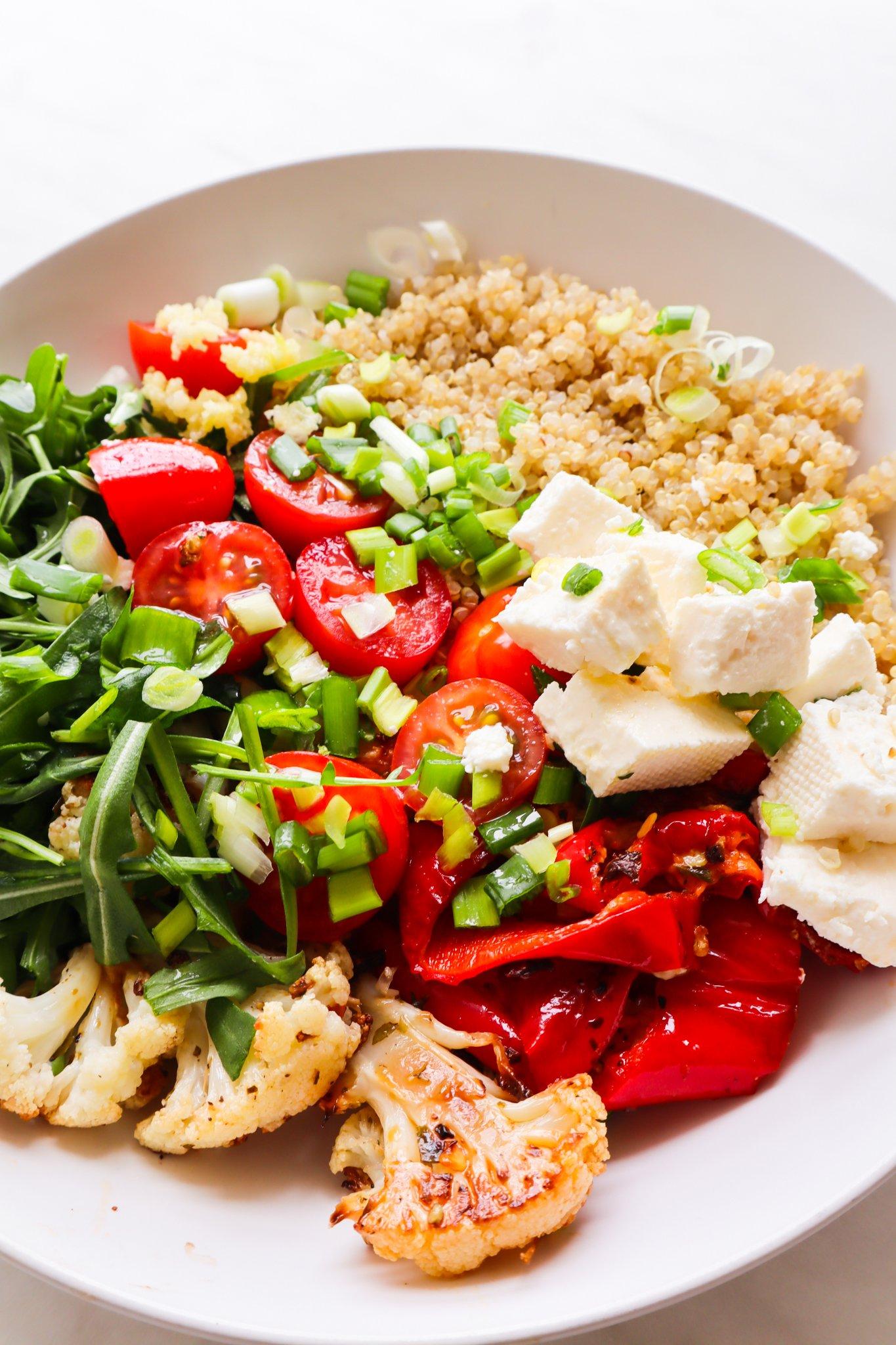 quinoa and roasted vegetable Mediterranean salad
