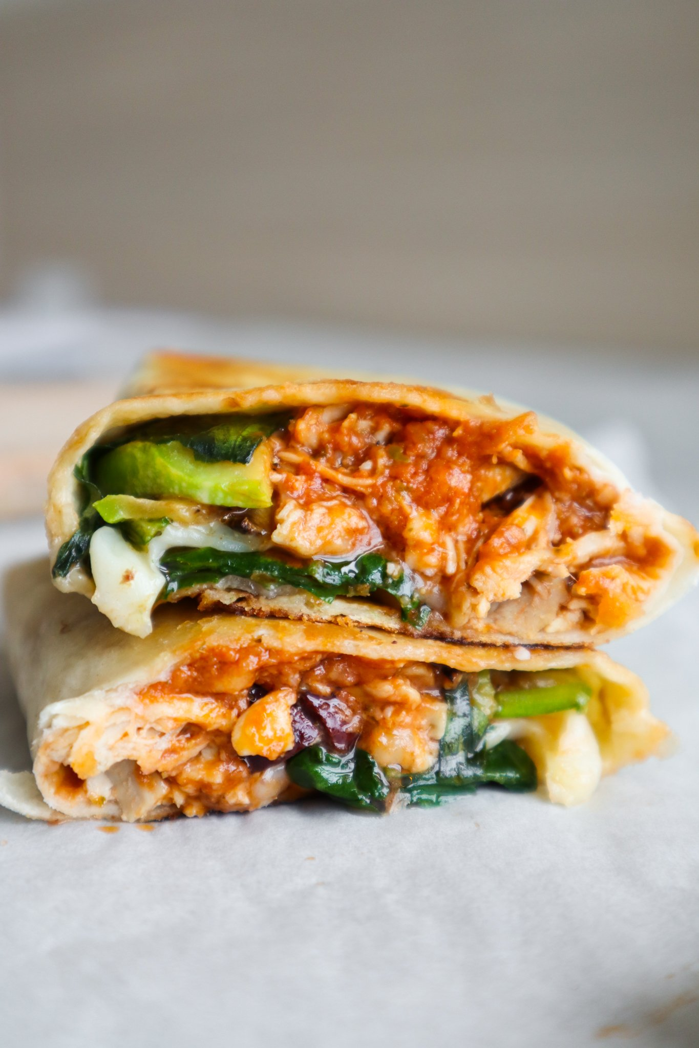 pesto parmesan chicken wraps - easy Mediterranean recipe