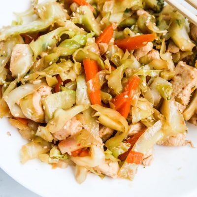 Healthy Egg Roll In A Bowl With Chicken
