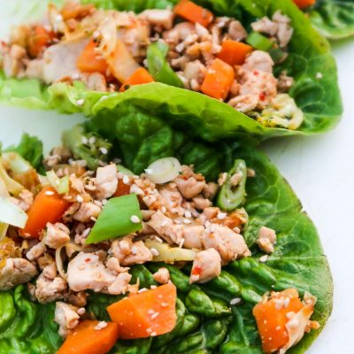 Vegan Tofu Lettuce Wraps (GF & Low Carb)