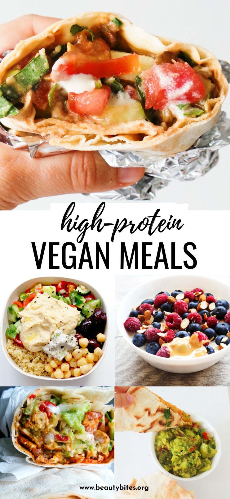 15 high-protein vegan meals to add to your meal plan this week! These easy and healthy plant based recipes include breakfast, lunch and dinner and you'll love them even if you're not vegan!