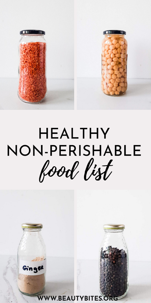 75 healthy non-perishable foods grocery list! These healthy foods won't go bad for months, even years, even if you don't keep them them in the fridge! Also a list of healthy foods you can put in the freezer…so you can eat healthy and be prepared for an emergency!